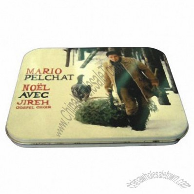 Rectangular Tin CD Case