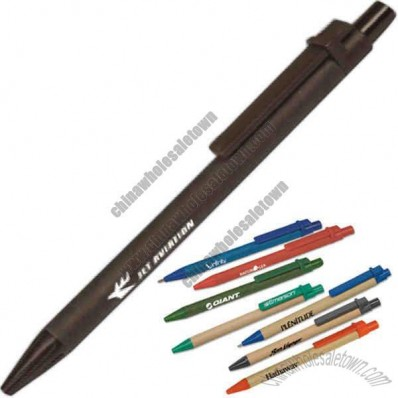 Recycled Paper Barrel Plastic Pen Made Of Corn Based Material