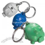 Recycled Pig Shaped Key Tag