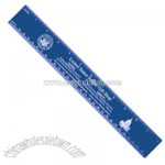 Recycled colored twelve inch promotional ruler
