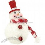 Red And White Snowman Ornament