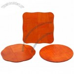 Red Eco-Friendly Wooden Table Mats for Kitchenware