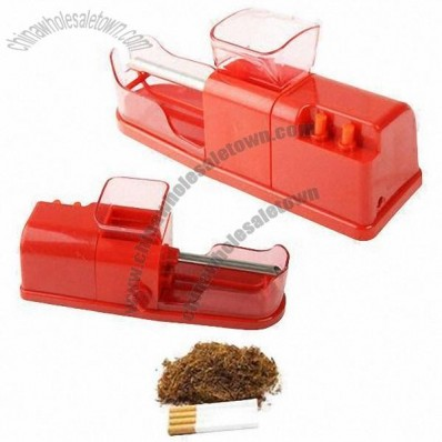 Red Electric Cigarette Roller with Rolling Injector Machine and Automatic DIY Tobacco Maker