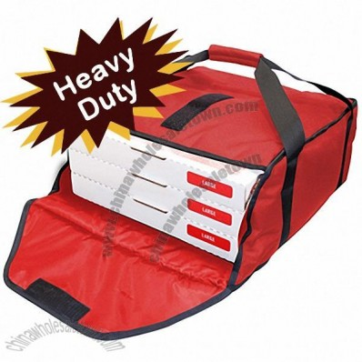 "Red Industry Standard Pizzas Bag 19""W x 20""L x 9""H"