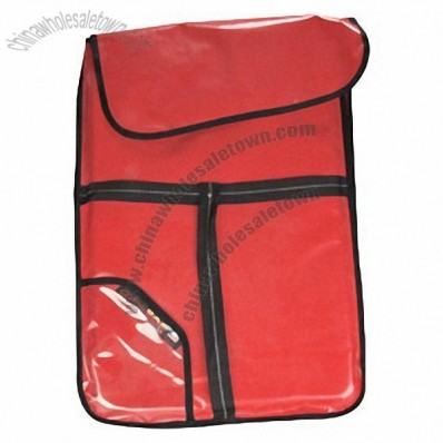 Red Insulated Vinyl Pizza Delivery Bags for Pizza and Cookie Sheets 20