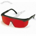 Red Lens Safety Glasses Black Frame