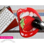 Red Lips Temptation Pattern Mouse Pad