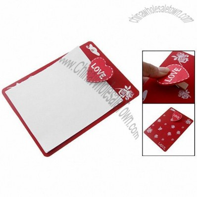 Red Love Heart Clip Board Floral Clipboard File Holder