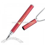 Red Magnetic Cap-Off Necklace Pen