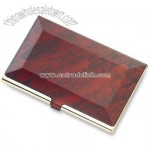Red Marbleized Business Card Case
