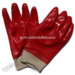 Red PVC Fully Dipped Gloves