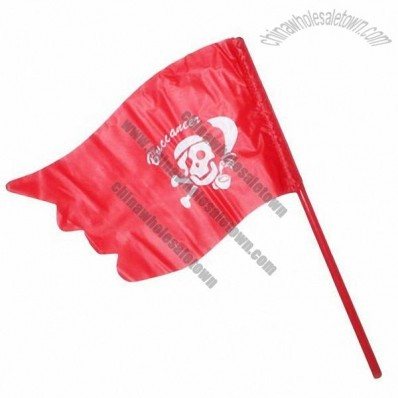 Red Pirate Flag for Halloween