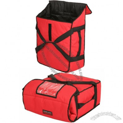 Red Pizza Delivery Bag, HOLDS up to FIVE 16