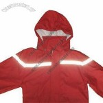 Red Reflective Raincoat