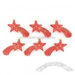 Red Shooting Stars Ornaments