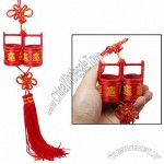 Red Treasure Container Chinese Words Car Hanging Decor