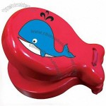 Red Wooden Castanet With Whale - Musical Educational Toy For Toddlers And Preschoolers