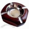 Red and Brown Wooden Ashtray