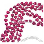 Red heart 8 mm bead necklace