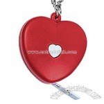 Red heart shaped cloth tape measure with key chain