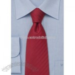 Red silk necktie,Handmade striped tie in venetian red