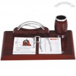 RedWood Desk Calendar with Pen Holder and Name Card Holder
