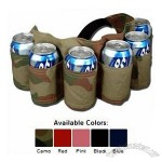 Redneck 6 Pack Beer & Soda Can Holster Belt - CAMOFLAUGE