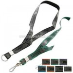 Reflective 1 ply woven polyester lanyard