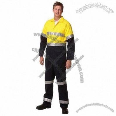 Reflective Coverall Boiler Suit with Lightweight Fabric for Summer