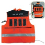 Reflective Safety Jacket With Solar Panels
