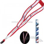 Reflective lanyard with bulldog clip