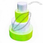 Reflective prismatic tape, PVC backing, white and yellow colors