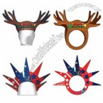 Reindeer Antlers - Foam visor headwear in stock graphic designs