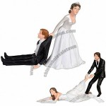 Reluctant Bride and Groom Cake Toppers
