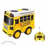 Remote Control Cartoon Car/School Bus with Sound