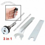Repair Tool Metal Angle Grinder Open Ended Spanner Shaft 3 in 1