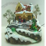 Resin Christmas House With LED