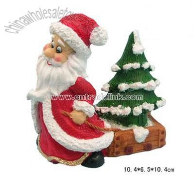Resin Christmas Santa Figurine