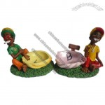 Resin Crafts Jamaican Man Ashtray