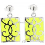Resin Damask Earrings