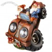 Resin Dwarf Car with Solar Light