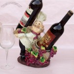 Resin French Chef Wine Bottle Holder