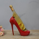 Resin High Heel Wine Bottle Holder