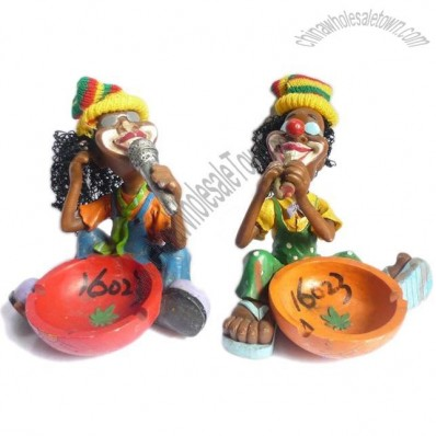 Resin Jamaican Man Ashtray
