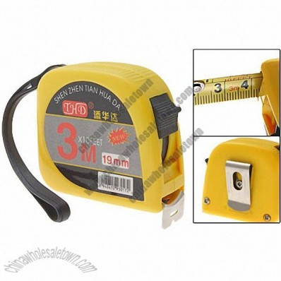 Retractable 3 Meters Long Steel Tape Measure Measuring Tool