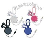 Retractable Ear Buds with Carabiner