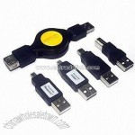 Retractable Extension Cable USB 2.0 5 Pack Set