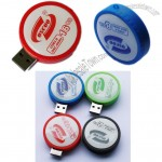 Retractable Round USB Flash Drives