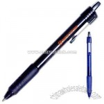 Retractable gel pen with rubber grip.