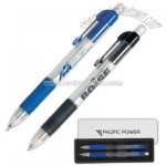 Retractable mechanical pencil with eraser